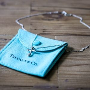 Small Tiffany & Co. Sterling Silver Cross Necklace